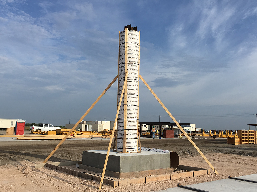 Harbor Bridge Project SonoTube Use for forming and Survey Tower