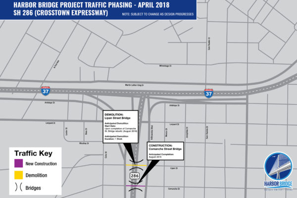 Crosstown Expressway Detour Map | April 2018