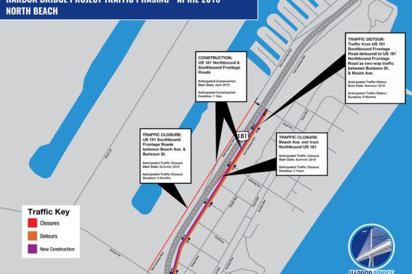 North Beach Detour Map   April 2018