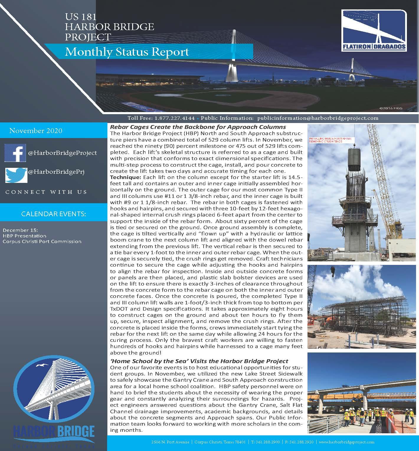 November 2020 Monthly Status Report